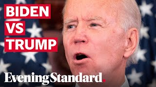 US election: Biden lead over Trump cut to six points