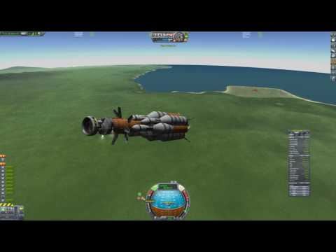 500 TON SSTO ROCKET, ORBITS AND RETURNS! 17 Kerbal Station and Satellite Payload!