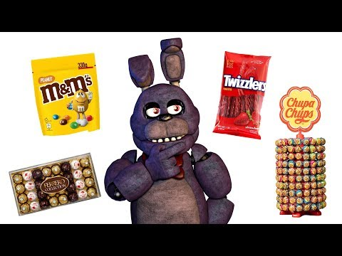 Five Nights At Freddy's Animatronics And Their Favorite Types Of Candy #3 Animated