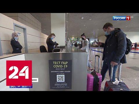 В Домодедове – очереди граждан стран ближнего зарубежья на экспресс-тест на COVID-19 - Россия 24