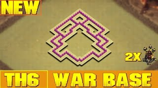 TH6/CV6 War Base 2016 + Replay - Clash Of Clans