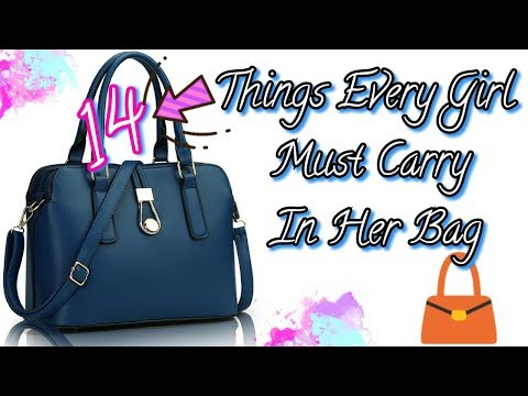 14 Things Every Girl Must Carry In Her Bag 👜