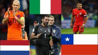 Le 11 MIGLIORI Squadre Nazionali che NON vanno ai Mondiali Calcio Russia 2018 Ripescaggio Italia?