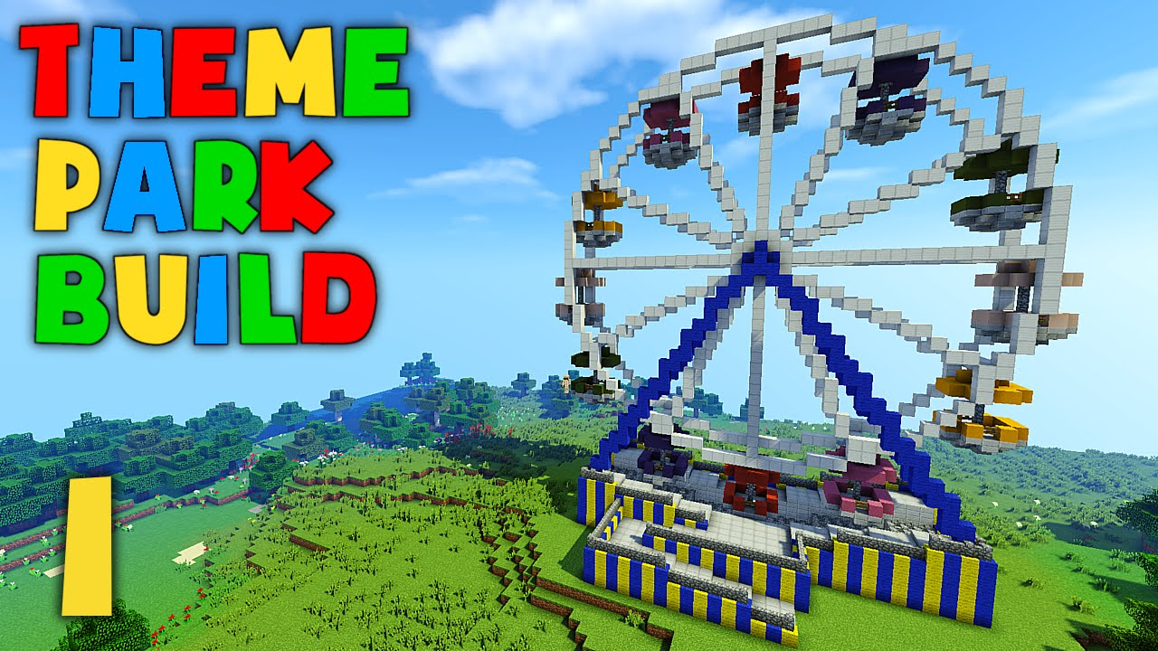 Minecraft Theme Park Build - Part 1 - Ferris Wheel - YouTube  Minecraft Theme...