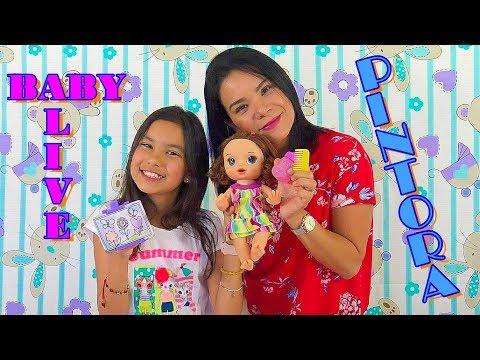 BABY ALIVE Pinta De VERDAD | Ana Nana Toys