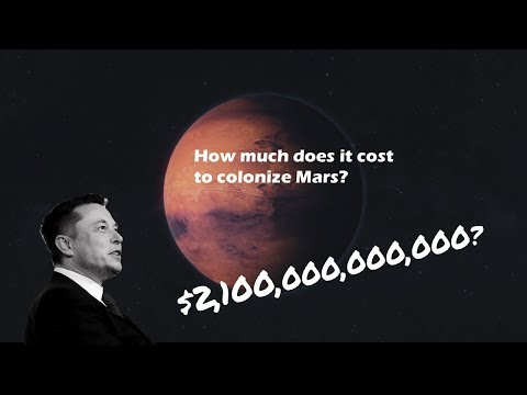 How much does it cost to Colonize Mars? $2,100,000,000,000?