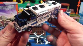 Mission Force Crime Crew With E-One Mobile Command Center! RWR Matchbox Real Working Rigs thumbnail