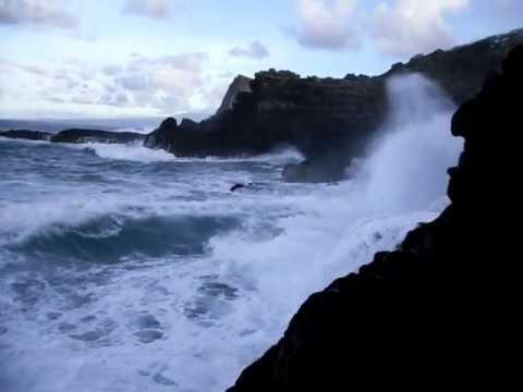 Waves Crashing on the Rocks in West Maui