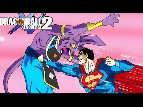 BEERUS VS SUPERMAN! The Man Of Steel Vs The Gods Tiers Of Xenoverse | Dragon Ball Xenoverse 2 Mods