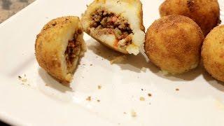Cuban Stuffed Potato Balls like Porto
