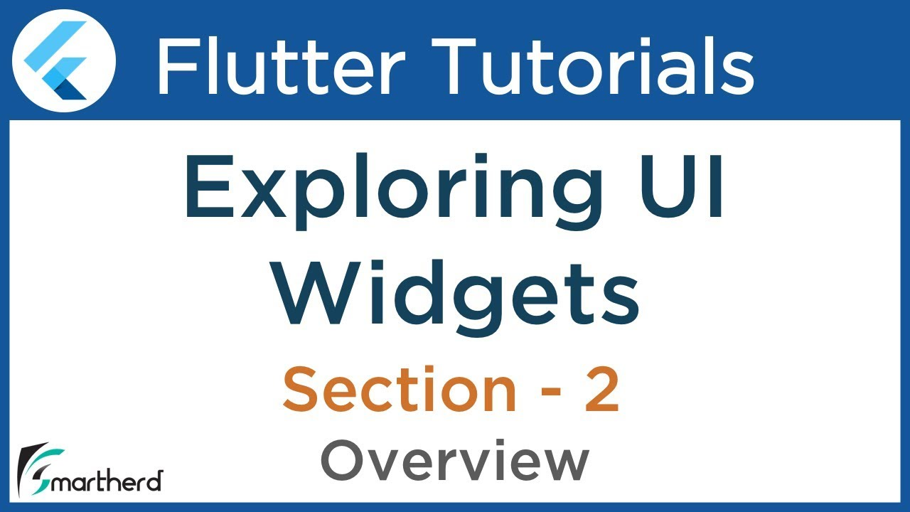 #2 1 Flutter Tutorial for Beginners using Dart: Exploring Widgets in  flutter using Dart