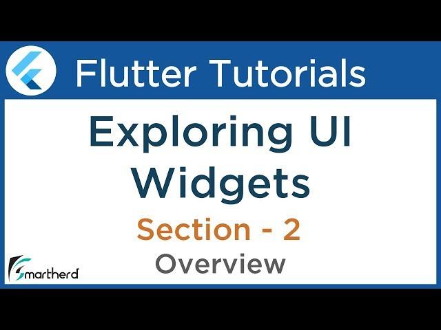 #2.1 Flutter Tutorial for Beginners using Dart: Exploring Widgets in flutter using Dart