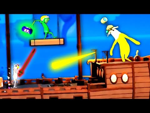 The NEXT Stick Fight with GRAPPLING HOOKS!?  (King of the Couch Zoovival Multiplayer Gameplay)