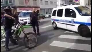 CROSS BITUME - la police confisque et repart avec une 450 KXF ! ! !
