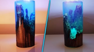 Night Lamp with Epoxy Resin and Old Wood - Resin Art