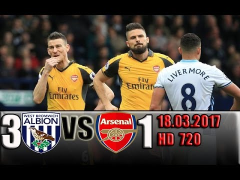 Download West Brom 3 - 1 Arsenal  All Goals and Highlights !!! 18.03.2017 HD 720