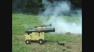 18th Century Naval Artillery 3-Pounder Cannon Live Fire