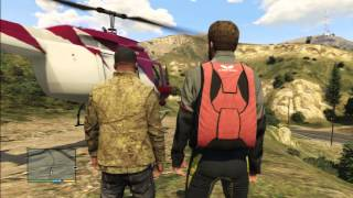 GTA 5 GAMEPLAY PARACHUTE JUMP FROM HELICOPTER