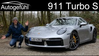 all-new Porsche 911 Turbo S FULL REVIEW 2021 2020 992 with Autobahn test - Autogefühl