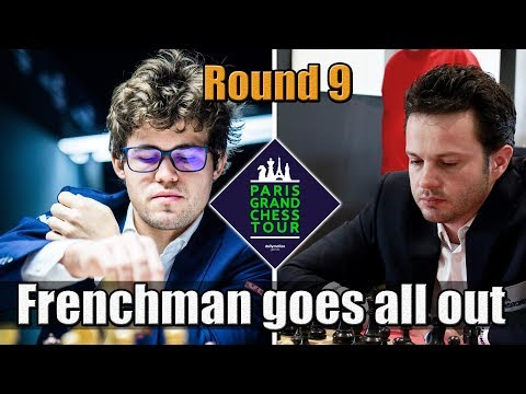 Magnus Carlsen vs Étienne Bacrot - The Frenchman goes all out - Paris Round 9 - GCT 2017