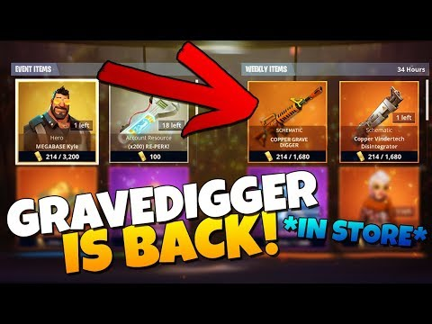 THE GRAVEDIGGER IS BACK IN THE STORE!!!