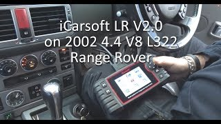 iCarsoft LR V2.0 on 2002 L322 Range Rover 4.4 V8