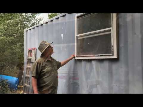 No Welding Window Install On 20' Shipping Container. Tiny Home