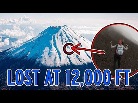 INSANE! Lost on top of Japan's TALLEST MOUNTAIN (Mt. Fuji)