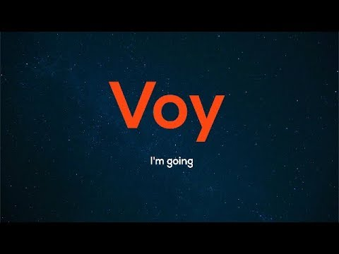 How to say i go in spanish