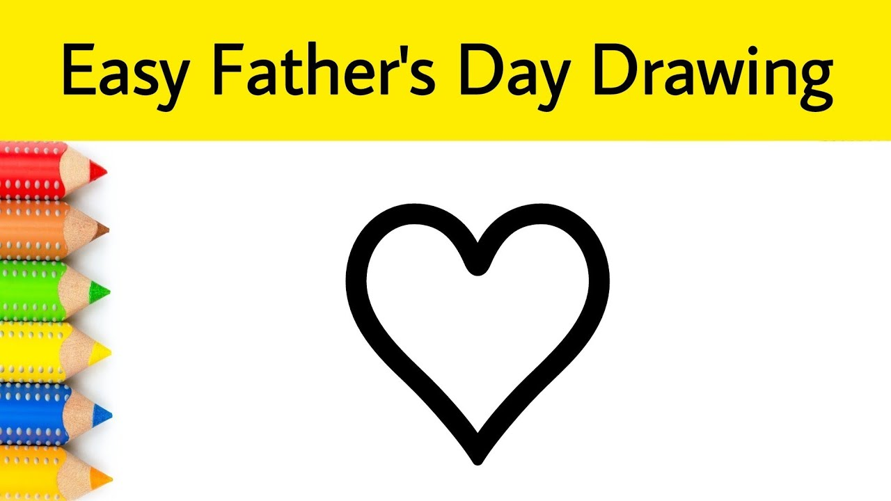 Very Easy Father's Day Drawing From ♡ Step by Step for beginners | AP Drawing