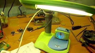 ремонт энергосберегающего настольного светильника(, 2016-02-05T05:52:10.000Z)