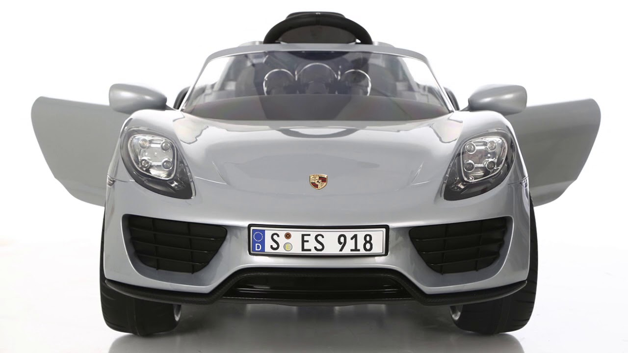 Luxury Kids Porsche 918 Licensed Ride On Electric Car Youtube