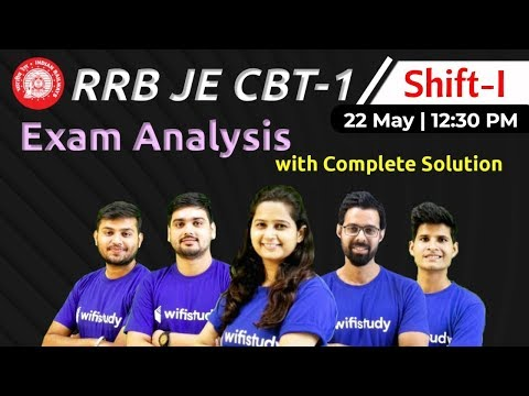 rrb-je-2019-(22-may-2019,-1st-shift)-|-je-cbt-1-exam-analysis-&-asked-questions