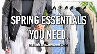SPRING FASHION ESSENTIALS + OUTFITS | Spring Capsule 2018 | Aysha Abdul