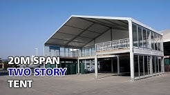 Liri 20m Span Two Story Tent Double Decker Tent for Wedding Party and Sport Event Tent Installation
