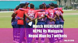 Highlights | Nepal vs Malaysia | Won by 7 Wicket