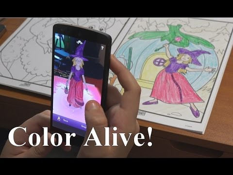Color Alive Review- Coloring Book Come to Life! | RainyDayDreamers in 4k CC