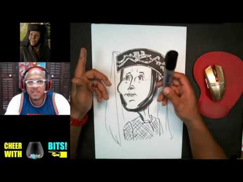 How To Draw Caricature Olenna Tyrell Diana Rigg Game of Thrones