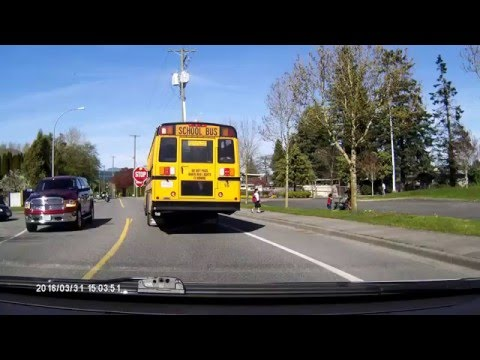 Passing Stopped School Bus