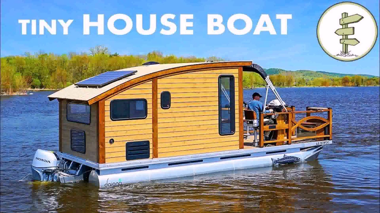 Tiny House On A Boat Trailer See Description Youtube
