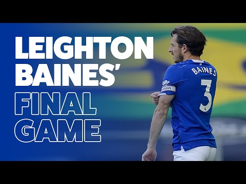 LEIGHTON BAINES' FINAL GAME   EVERTON ICON RETIRES FROM FOOTBALL