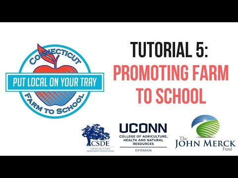 Tutorial #5: Promoting Your Farm to School Efforts