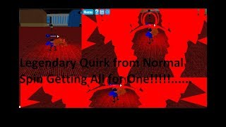 """[2EXP] Boku No Roblox : Remastered- Legendary Quirk von Normal Spin 