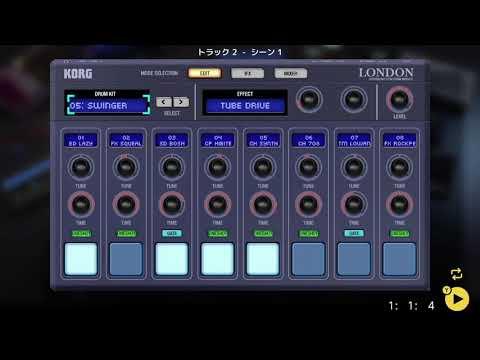 画像2: 04 03 ドラムの音を選ぶ バレッドプレス KORG Gadget for Nintendo Switch講座 www.youtube.com