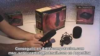 AUREAL MC002 MICRÓFONO CONDENSER NEGRO, INFO EN ARTIER