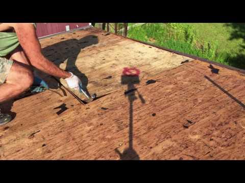 home repairing roof