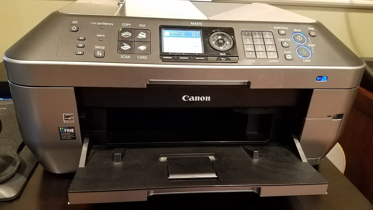 Canon PIXMA MX870 Wireless Office All-in-One Printer Review - YouTube