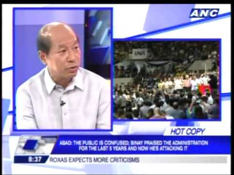 ABAD DENIES BINAY'S CLAIM THAT BUDGET FOR STATE UNIVERSITIES WAS CUT
