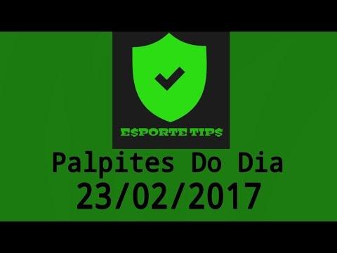 PALPITES DE FUTEBOL DO DIA 23/02/2017...