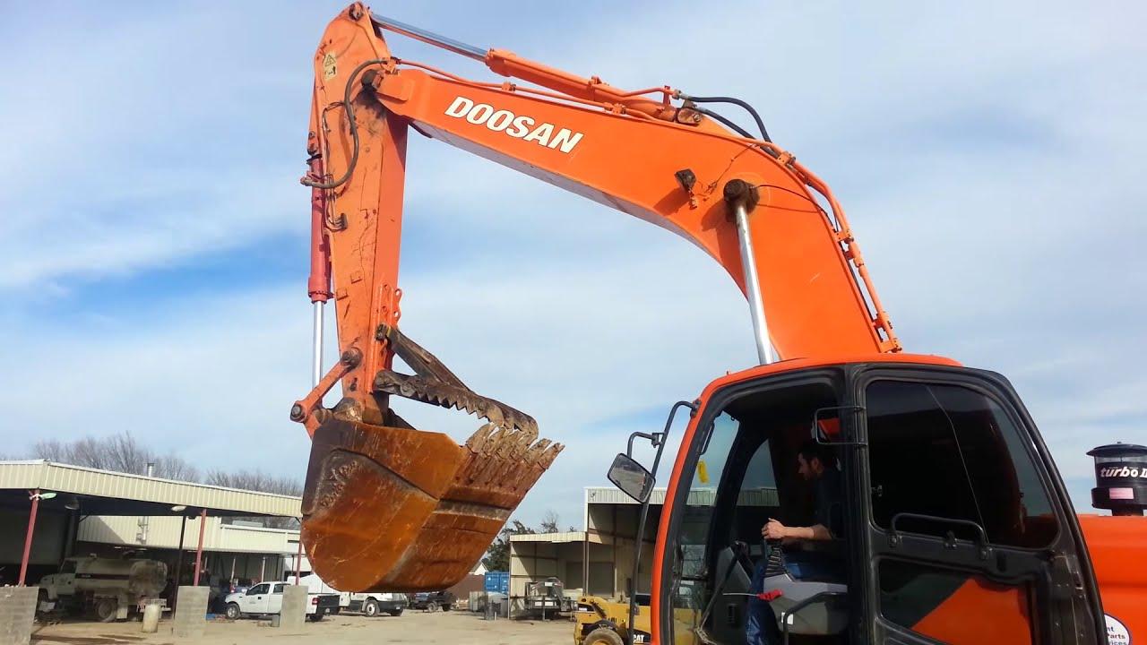 Used Doosan DX 300 Excavator for sale - YouTube